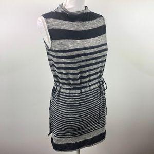 Anthropologie Dolan Blue & Gray Striped Tunic S